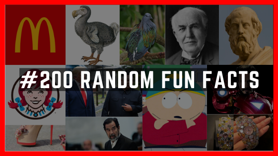 200 Random Fun Facts You'd Love To Know
